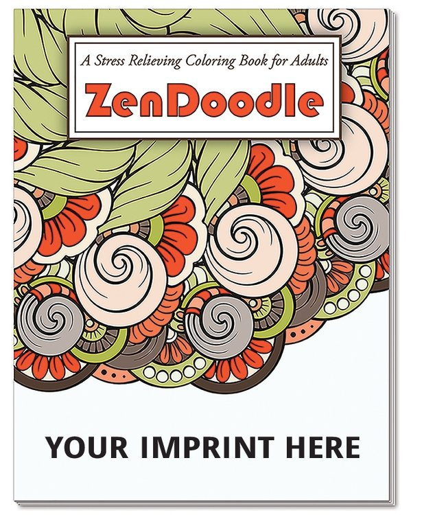 Main Product Image for ZenDoodle Stress Relieving Coloring Book for Adults