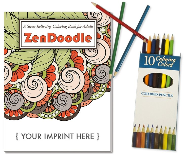 Main Product Image for ZenDoodle Stress Relieving Coloring Book - Relax Pack