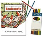 ZenDoodle Stress Relieving Coloring Book - Relax Pack -