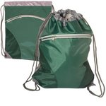 Zip Pouch String-A-Sling Backpack - Green