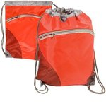 Zip Pouch String-A-Sling Backpack - Red