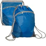 Zip Pouch String-A-Sling Backpack - Royal Blue